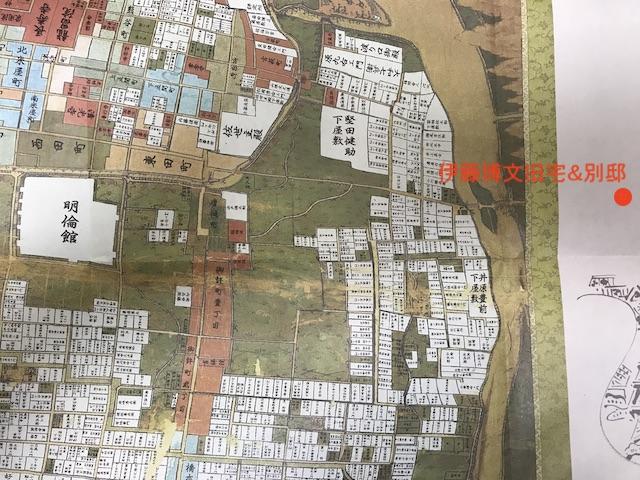 古地図には伊藤博文旧宅は載っていない