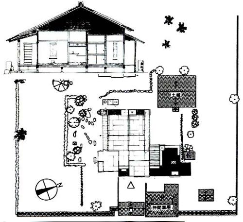 青木周弼旧宅の図面