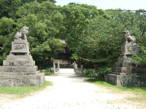 志都岐山神社の参道