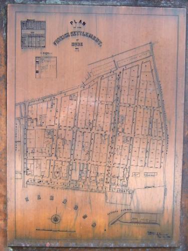 「神戸外国人居留地跡の碑」の外国人居留地地図