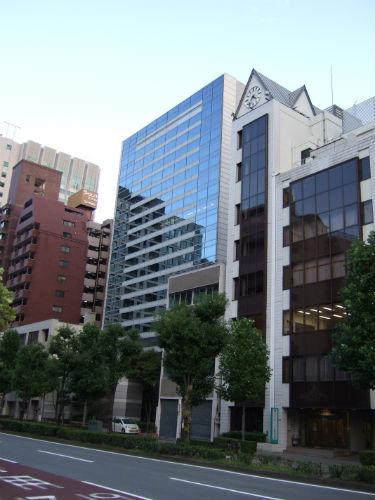「大村益次郎先生寓地址」がある江戸堀フコク生命ビル