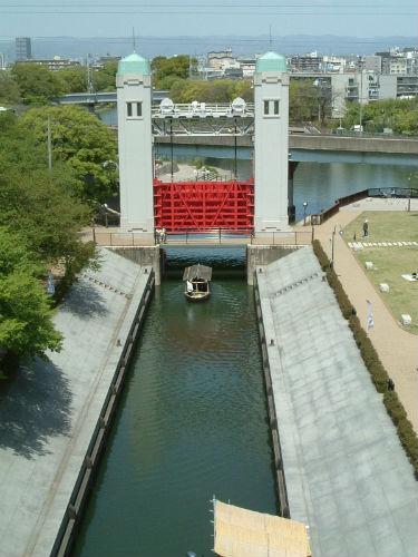 伏見・三十石船の水門