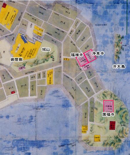鞆の浦古地図・江戸時代