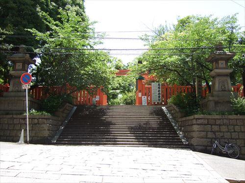 生國魂神社の八軒家浜常夜灯