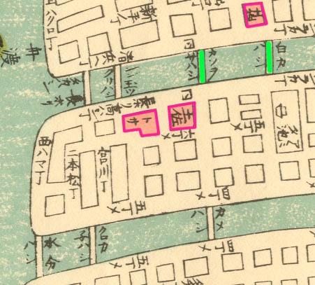 1845年(弘化2年)大坂細見図