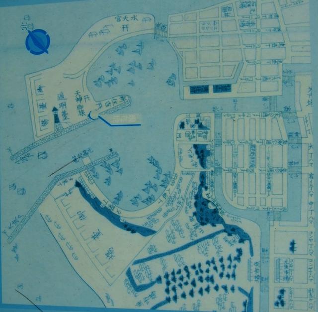 旧堺港の古地図