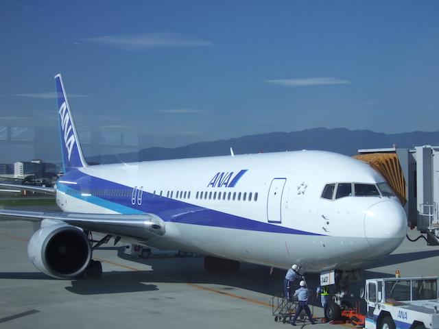 飛行機ANA・伊丹−鹿児島間