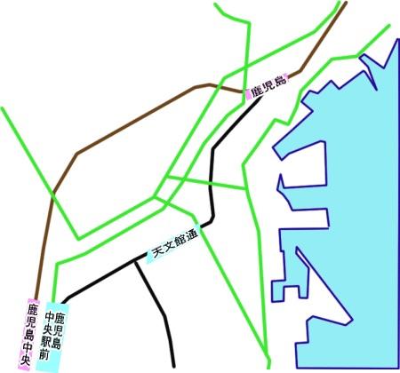 鹿児島中央駅・天文館通駅・鹿児島駅マップ