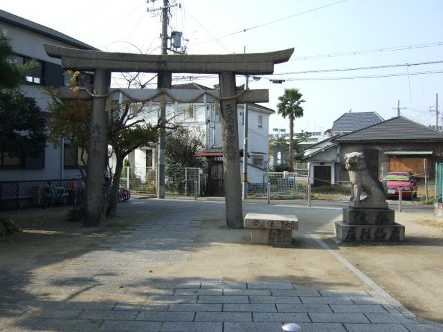 旧堺港の天満宮御旅所