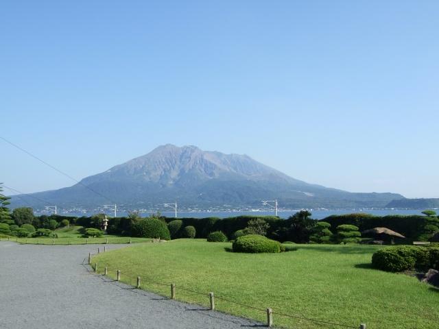 「仙巌園」庭園から見える桜島