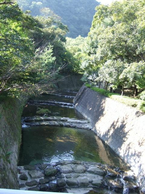 仙巌園を流れる川