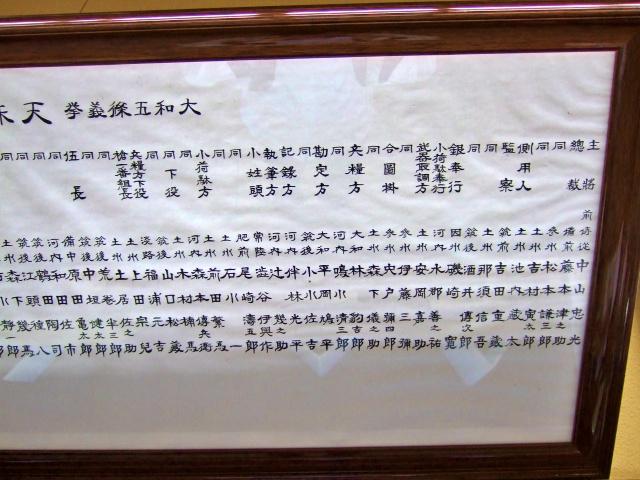 五條史跡公園・民俗資料館「天誅組メンバー1」