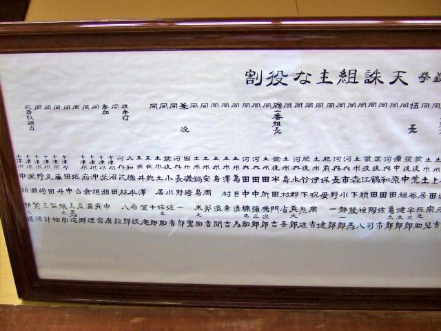 五條史跡公園・民俗資料館「天誅組メンバー3」