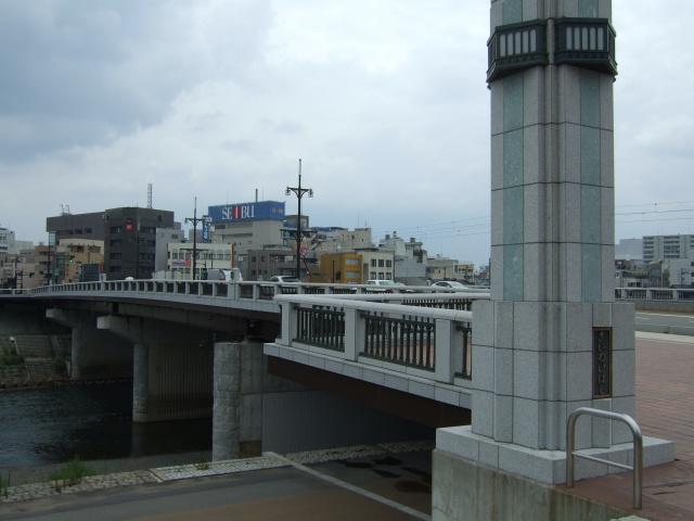 福井の足羽川と幸橋