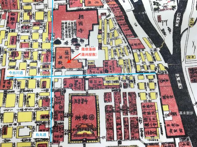 古地図「薩摩藩邸(薩州屋敷)」