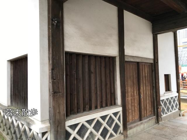 「旧黒田藩蔵屋敷長屋門」内側面